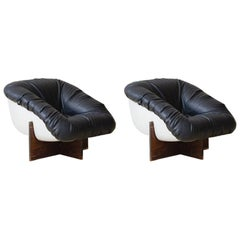 Pair of Armchair MP-61 in Rosewood by Brazilian Designer Percival Lafer, 1973