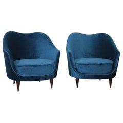 Pair of Armchairs 1950s Design Federico Munari