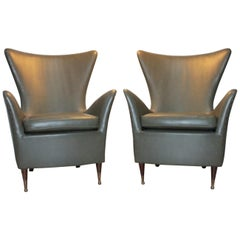 Pair of Armchairs 1950s Design Gio Ponti