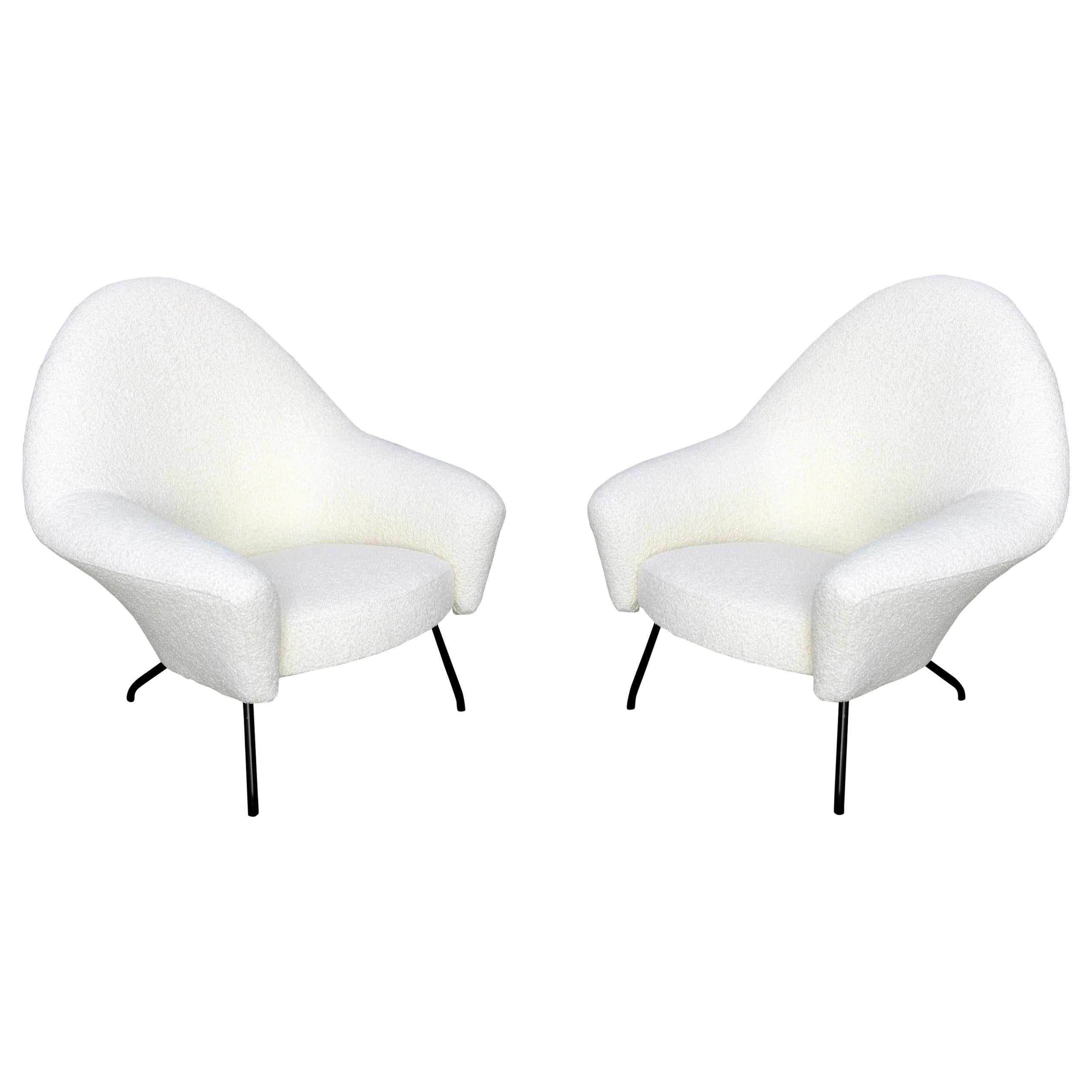 Pair of Armchairs, 770 Model, Joseph-André Motte for Steiner, circa 1958