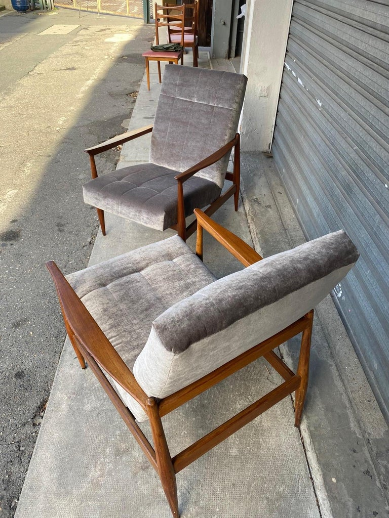 Mid-20th Century Pair of Armchairs, Altamira Editions, Portugal, 1960s For Sale
