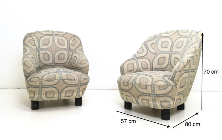 Pair of Armchairs and an Ottoman by Gio Ponti, Italy, 1930s For Sale 6