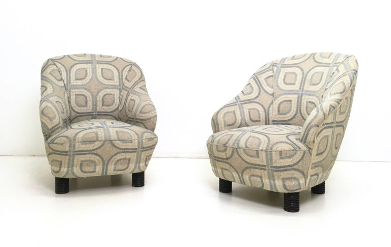 Italian Pair of Armchairs and an Ottoman by Gio Ponti, Italy, 1930s For Sale