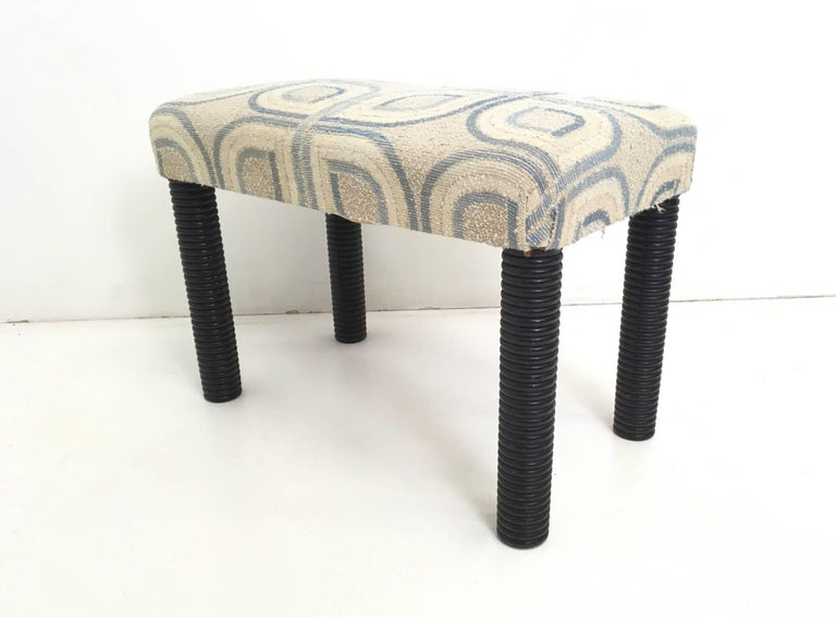 Pair of Armchairs and an Ottoman by Gio Ponti, Italy, 1930s For Sale 4