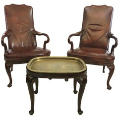 Pair of Armchairs and Table by Hickory Chair Co.