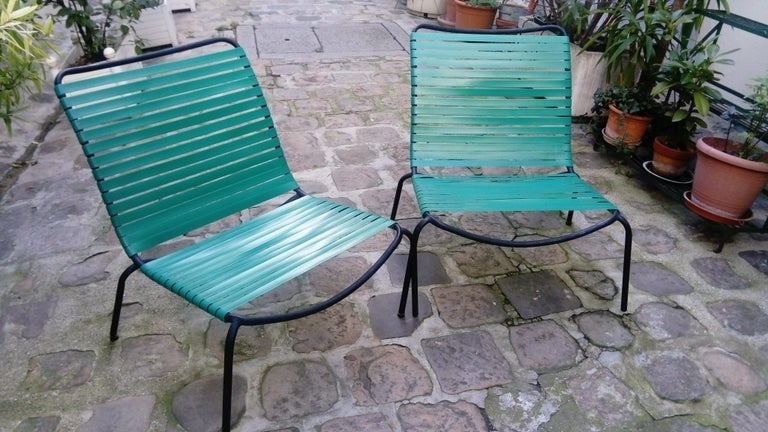 Pair of Armchairs André Monpoix For Sale 6