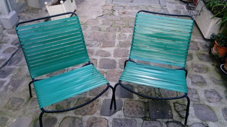 Pair of Armchairs André Monpoix For Sale 9