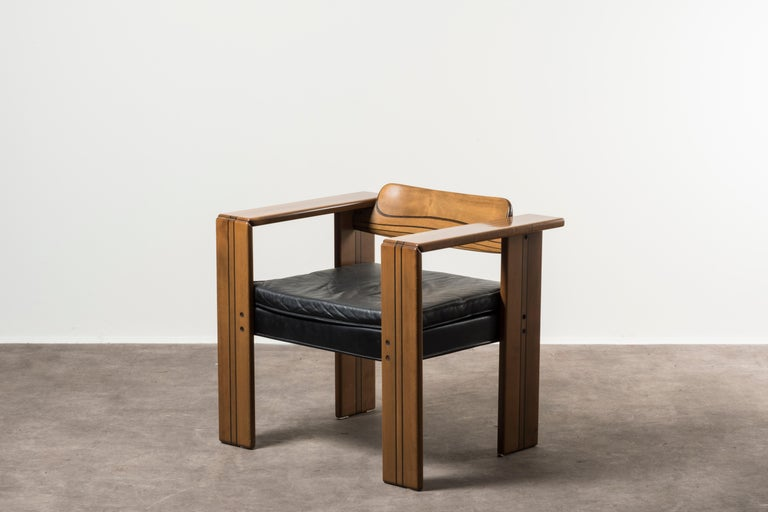 Mid-Century Modern Pair of Armchairs, Artona Series, by Afra & Tobia Scarpa, Italy, 1975 For Sale
