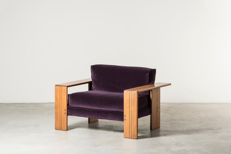 Mid-Century Modern Pair of Armchairs, Artona Series, by Afra & Tobia Scarpa For Sale