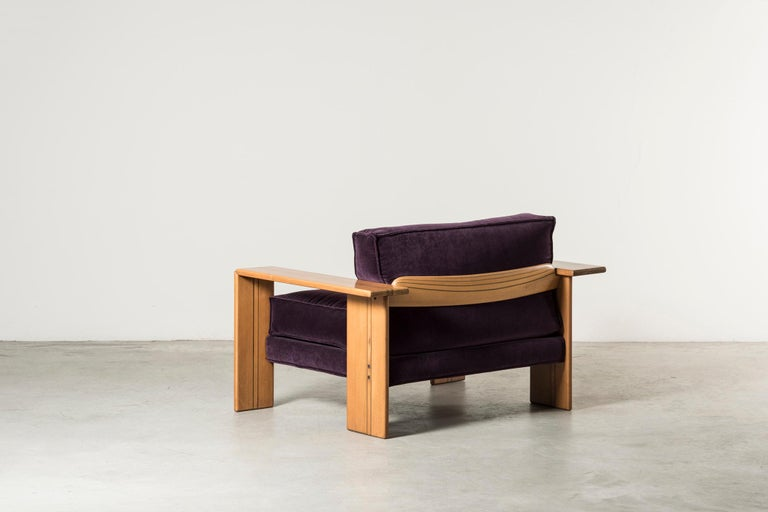 Pair of Armchairs, Artona Series, by Afra & Tobia Scarpa In Good Condition For Sale In Milan, IT