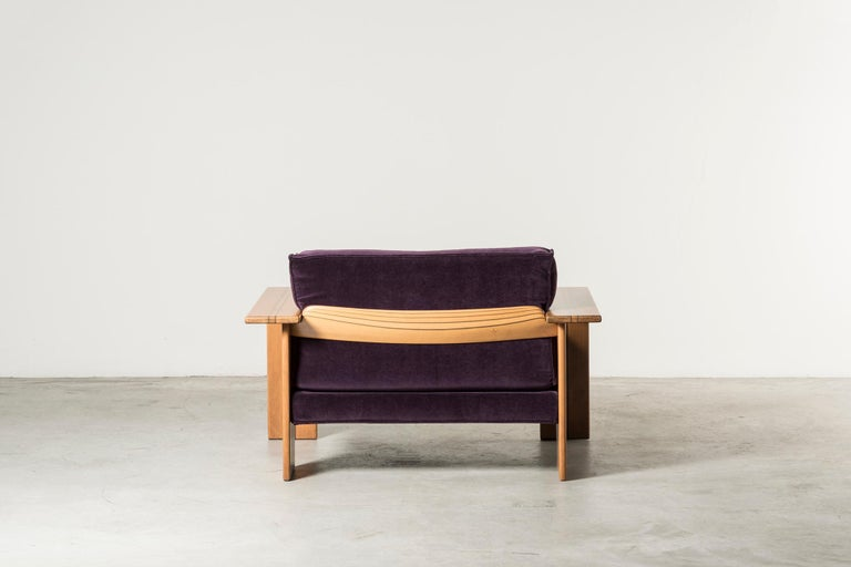 Late 20th Century Pair of Armchairs, Artona Series, by Afra & Tobia Scarpa For Sale