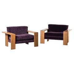 Pair of Armchairs, Artona Series, by Afra & Tobia Scarpa