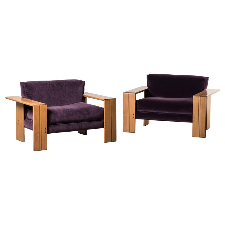 Pair of Armchairs, Artona Series, by Afra & Tobia Scarpa For Sale