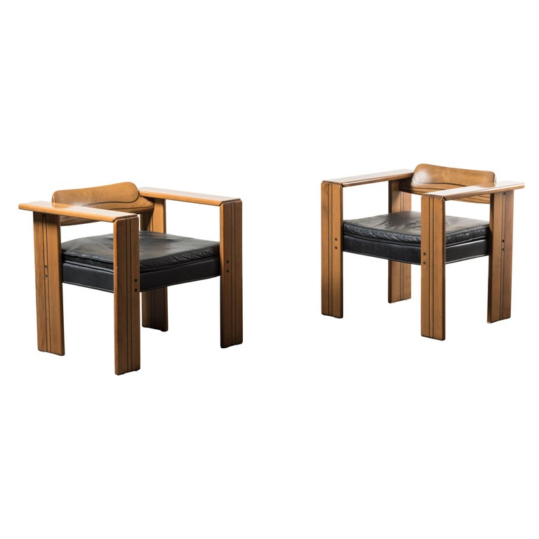Pair of Armchairs, Artona Series, by Afra & Tobia Scarpa, Italy, 1975 For Sale