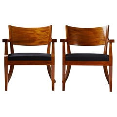 Pair of Armchairs Attributed to Ameritz Lovén, Upsala Möblerings AB, Sweden 1928