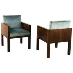 Pair of Armchairs Attributed to Franco Albini, 1940s