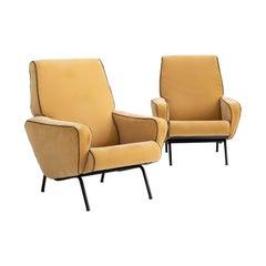 Pair of armchairs Attributed to Gigi Radice