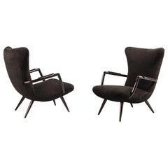 Pair of Armchairs Attributed to Giuseppe Scapinelli, circa 1950