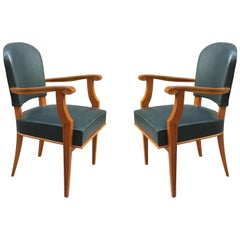 Pair of Armchairs Attributed to Jean Pascaud