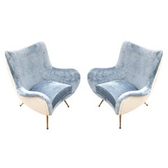 Pair of Armchairs Attributed to Marco Zanuso