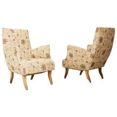 Pair of Armchairs Attributed to Melchiorre Bega, 1950s