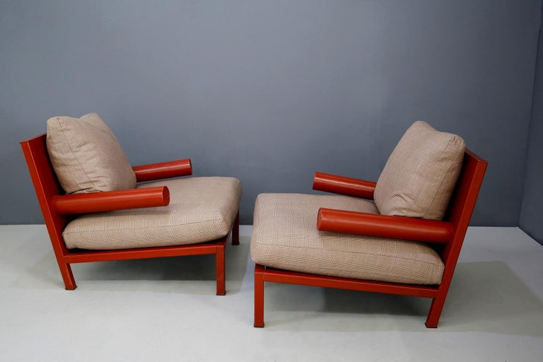 Leather Pair of Armchairs 'Baisity' for B&B Italia by Antonio Citterio, 21st Century For Sale