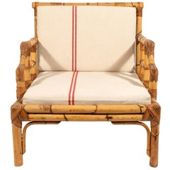 Pair of Armchairs, Bamboo, circa 1960, France