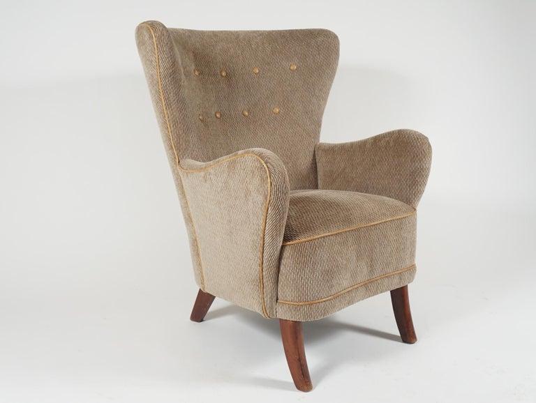 Scandinavian Modern Pair of Armchairs by Alfred Christensen For Sale