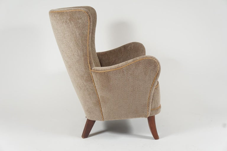 Danish Pair of Armchairs by Alfred Christensen For Sale