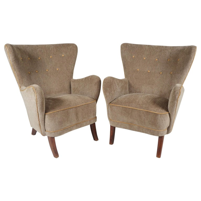 Pair of Armchairs by Alfred Christensen For Sale