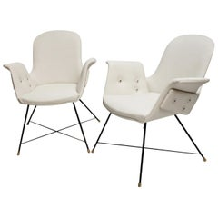 Pair of Armchairs by Augusto Bozzi for Saporiti