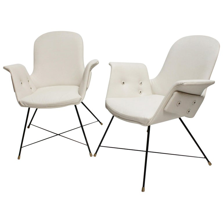 Pair of Armchairs by Augusto Bozzi for Saporiti For Sale