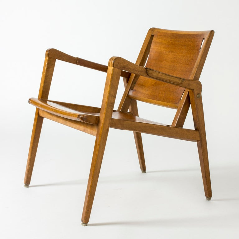 Pair of Armchairs by Axel Larsson for Bodafors, Sweden, 1940s. For Sale 3
