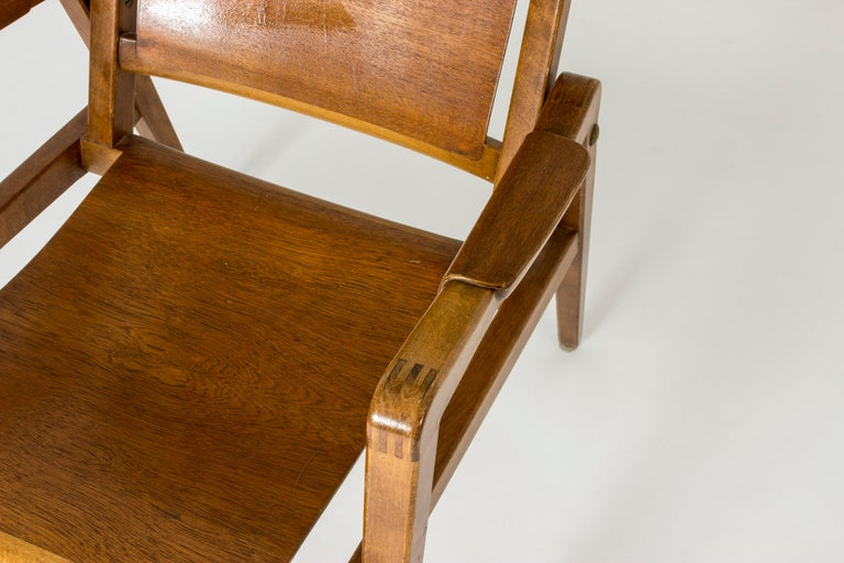 Pair of Armchairs by Axel Larsson for Bodafors, Sweden, 1940s. For Sale 5
