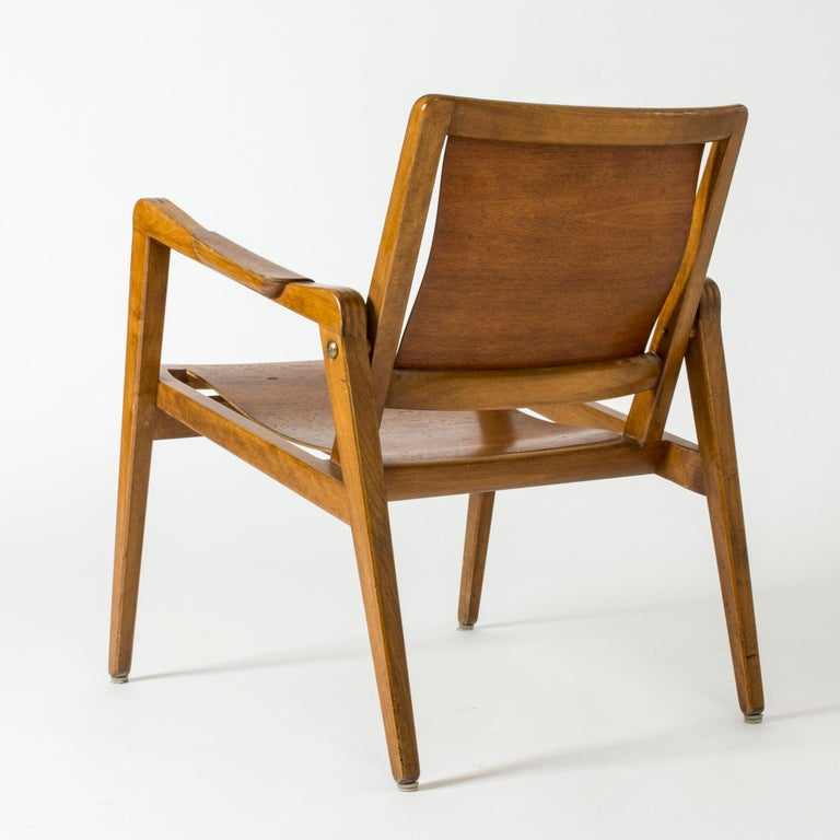 Pair of Armchairs by Axel Larsson for Bodafors, Sweden, 1940s. For Sale 1