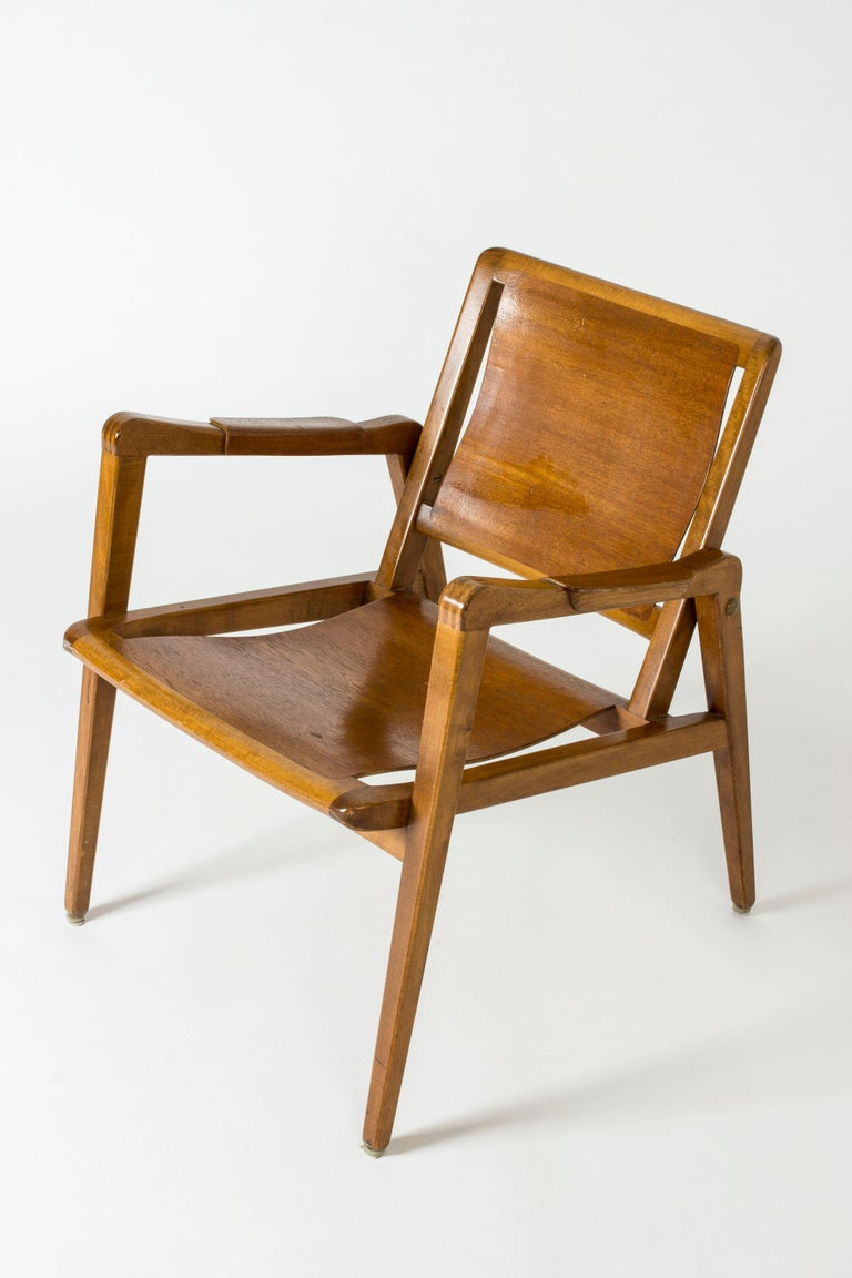 Pair of Armchairs by Axel Larsson for Bodafors, Sweden, 1940s. For Sale 2