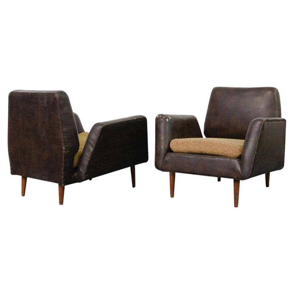 Pair of Armchairs by Carlo Hauner and Martin Eisler, Forma, Brazilian Design
