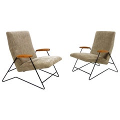 Pair of Armchairs by Carlo Hauner and Martin Eisler, Forma Edition, circa 1955