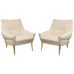 Pair of Armchairs by Charles Ramos, Castellanetta Edition, France, 1950