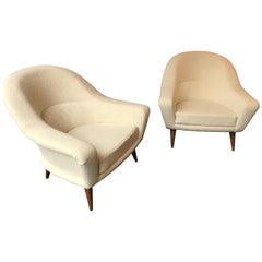 Pair of Armchairs by Charles Ramos, France, 1950s