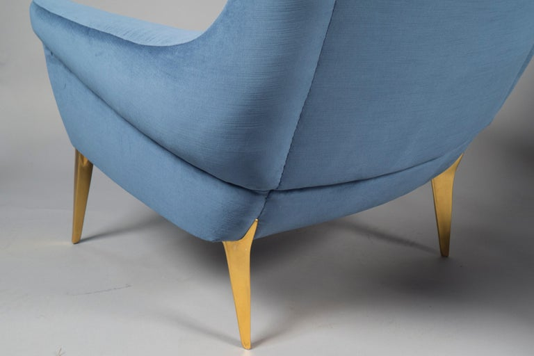 Mid-Century Modern Pair of Armchairs by Charles Ramos, France, 1960s For Sale