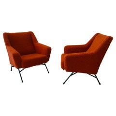 Pair of Armchairs by Dangles et Defrance 1950