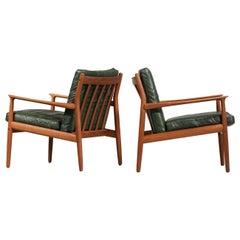 Pair of Armchairs by Danish Designer Eriksen Svend Age Scandinavian Design