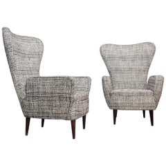 Pair of Armchairs by Emilio Sala and Giorgio Madini, New Upholstery