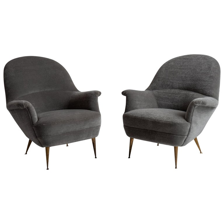 Pair of Armchairs by Federico Munari For Sale
