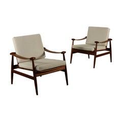 Pair of Armchairs by Finn Juhl Vintage, Italy, 1950s