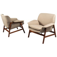 Pair of Armchairs by Gianfranco Frattini, Italy, 1960s