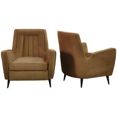Pair of Armchairs by Giuseppe Scapinelli, Brazilian Mid-Century Modern