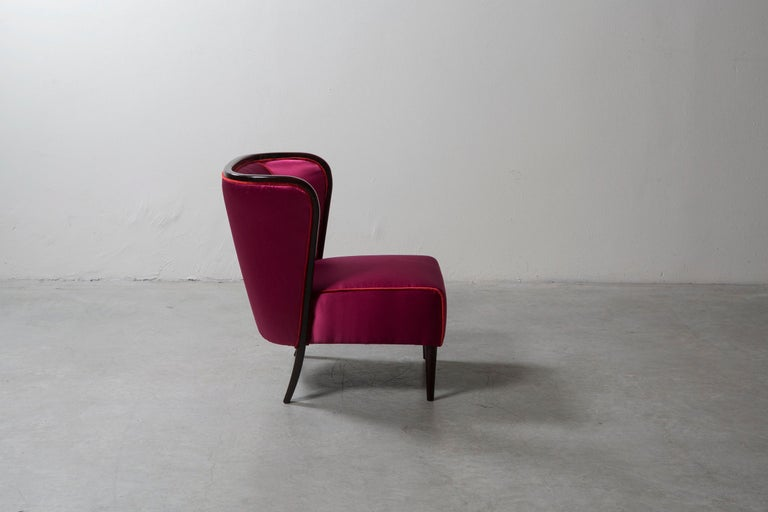 Italian Pair of Armchairs by Guglielmo Ulrich For Sale