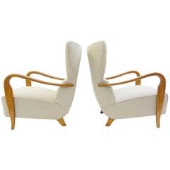 Ein Paar Sessel von Guglielmo Ulrich, Italien, ca. 1950er Jahre, neue Polsterung